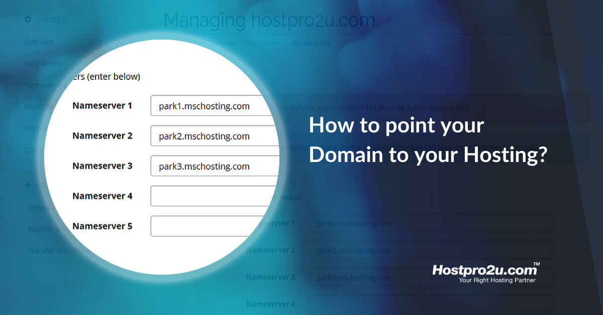 How to point your Domain to your Hosting